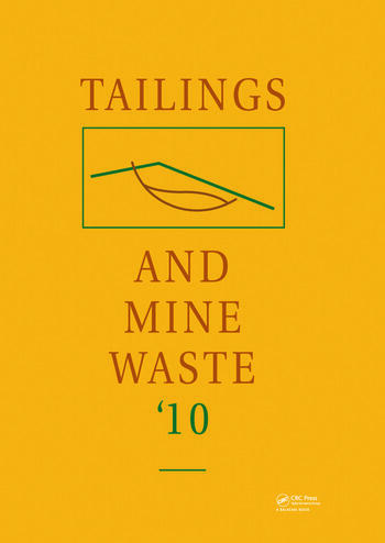 Tailings and Mine Waste 2010 book cover
