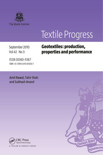 Geotextiles Production, Properties and Performance book cover