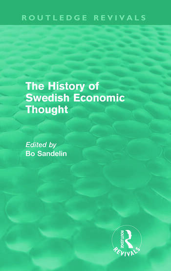 The History of Swedish Economic Thought (Routledge Revivals) book cover
