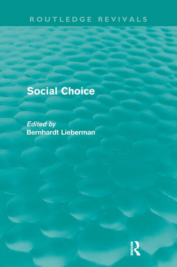 Social Choice (Routledge Revivals) book cover
