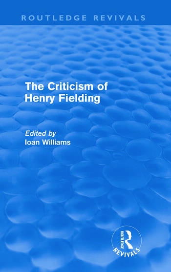 The Criticism of Henry Fielding book cover