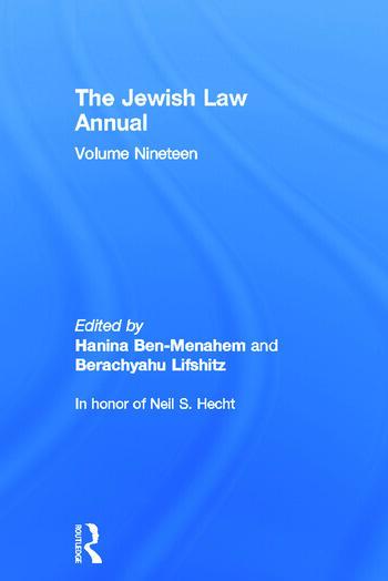 The Jewish Law Annual Volume 19 book cover