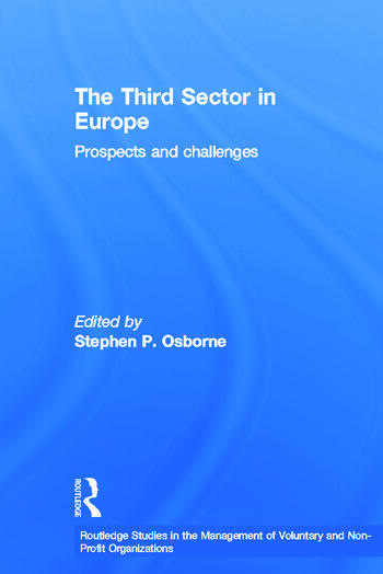 The Third Sector in Europe Prospects and challenges book cover