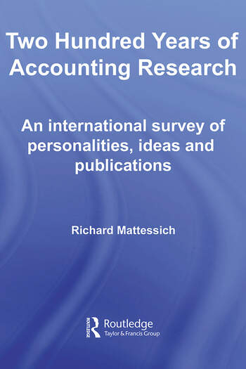 Two Hundred Years of Accounting Research book cover
