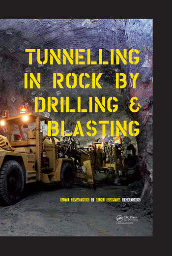 Tunneling in Rock by Drilling and Blasting book cover