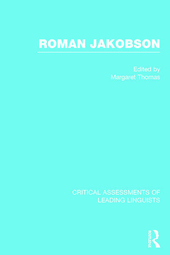 Roman Jakobson book cover