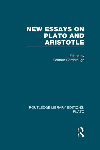 New Essays on Plato and Aristotle (RLE: Plato) book cover