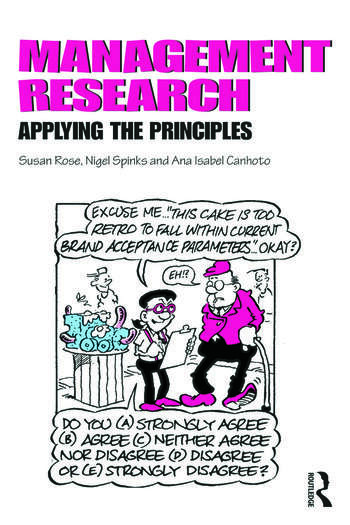 Management Research Applying the Principles book cover