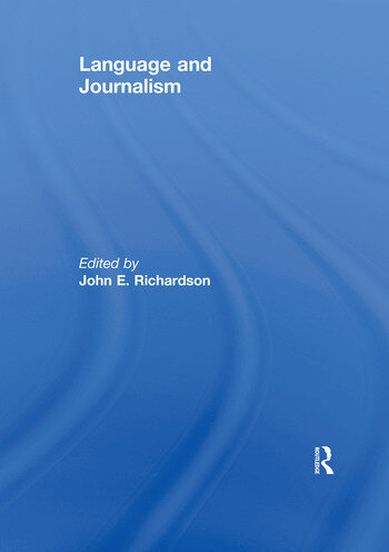Language and Journalism book cover