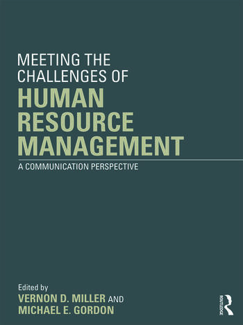 Meeting the Challenge of Human Resource Management A Communication Perspective book cover