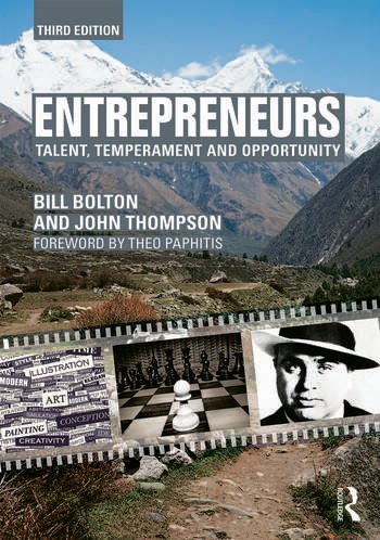 Entrepreneurs Talent, Temperament and Opportunity book cover