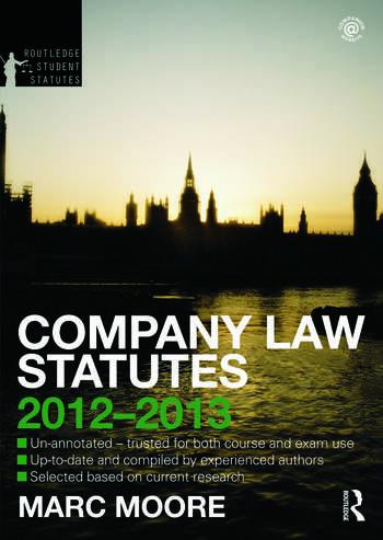 Company Law Statutes 2012-2013 book cover