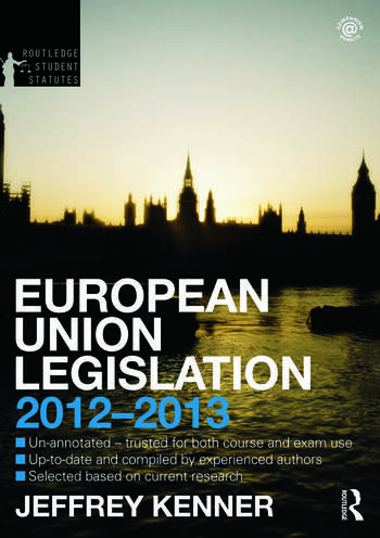 European Union Legislation 2012-2013 book cover