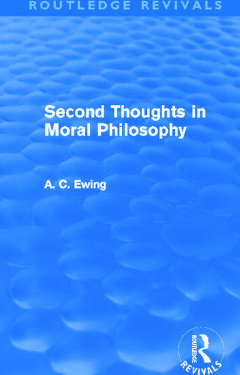 Second Thoughts in Moral Philosophy (Routledge Revivals) book cover