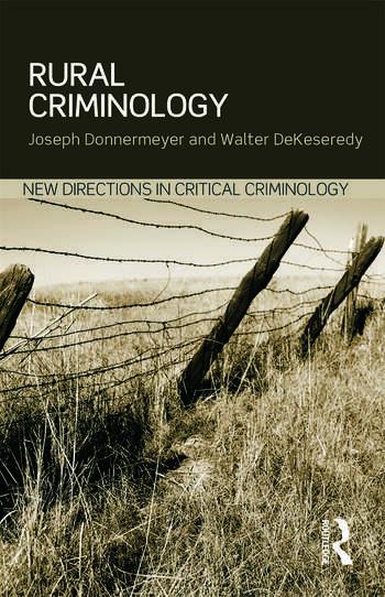 Rural Criminology book cover