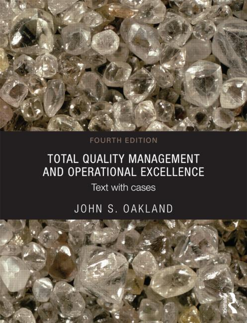 Total Quality Management and Operational Excellence Text with Cases book cover