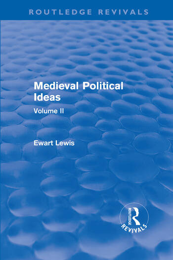 Medieval Political Ideas (Routledge Revivals) Volume II book cover