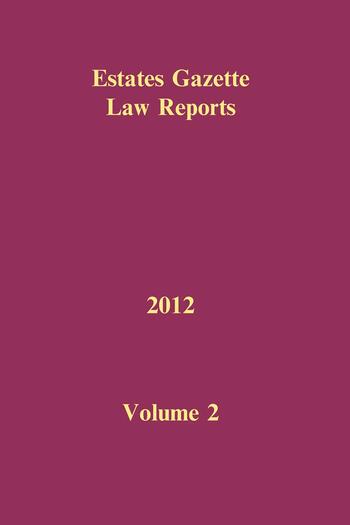 EGLR 2012 Volume 2 book cover