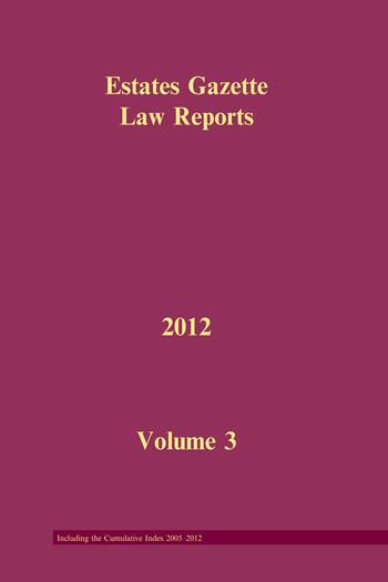 EGLR 2012 V3 book cover
