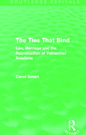 The Ties That Bind (Routledge Revivals) Law, Marriage and the Reproduction of Patriarchal Relations book cover
