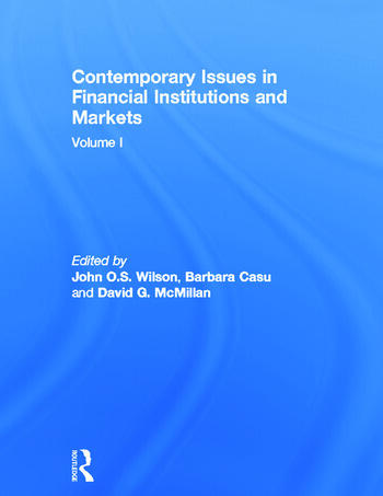 Contemporary Issues in Financial Institutions and Markets Volume I book cover