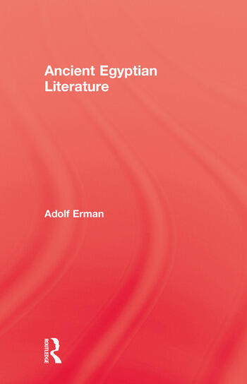 Ancient Egyptian Literature book cover