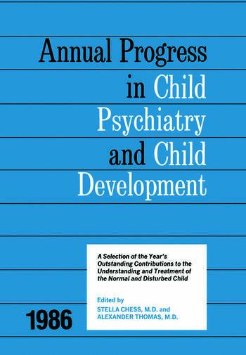 1986 Annual Progress In Child Psychiatry book cover