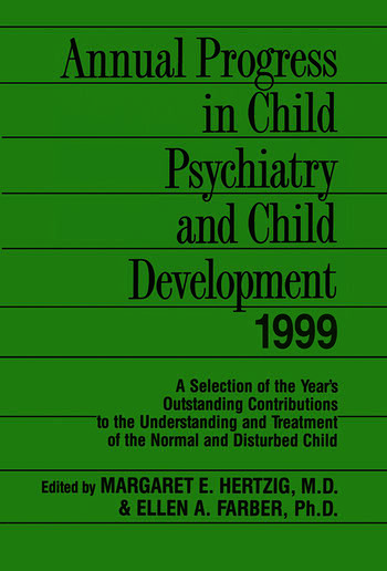 Annual Progress in Child Psychiatry and Child Development 1999 book cover