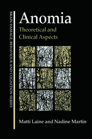 Anomia Theoretical and Clinical Aspects book cover