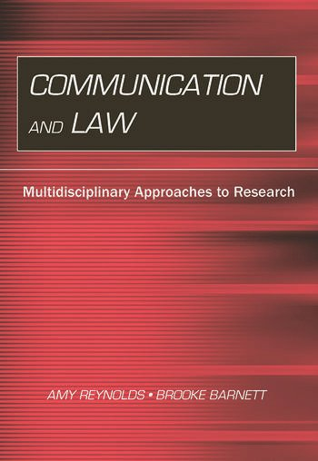 Communication and Law Multidisciplinary Approaches to Research book cover