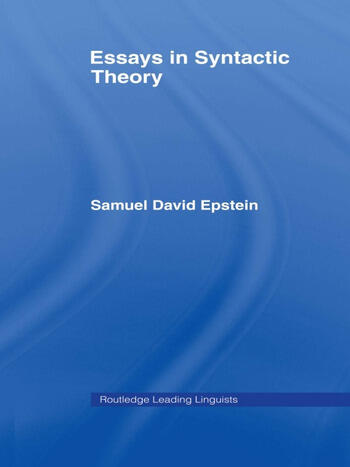 Essays in Syntactic Theory book cover