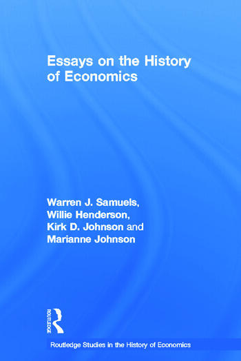 Essays in the History of Economics book cover