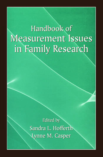 Handbook of Measurement Issues in Family Research book cover