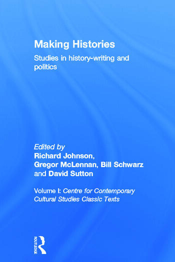 Making Histories Studies in history-writing and politics book cover
