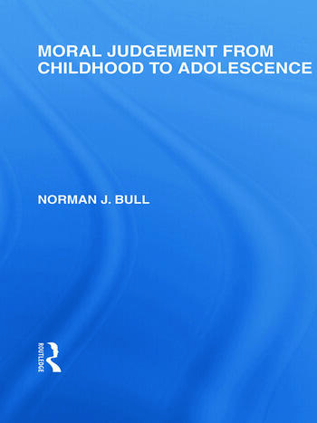 Moral Judgement from Childhood to Adolescence (International Library of the Philosophy of Education Volume 5) book cover
