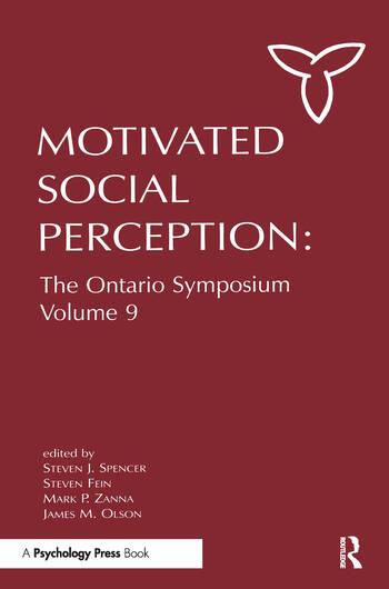 Motivated Social Perception The Ontario Symposium, Volume 9 book cover