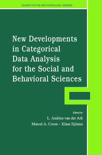 New Developments in Categorical Data Analysis for the Social and Behavioral Sciences book cover