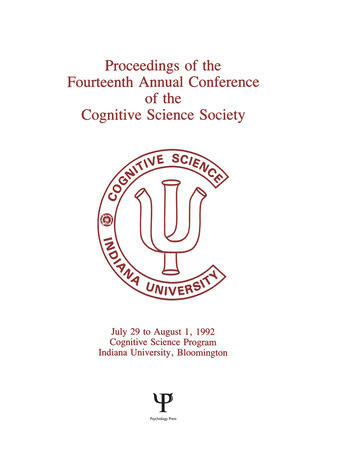 Proceedings of the Fourteenth Annual Conference of the Cognitive Science Society book cover