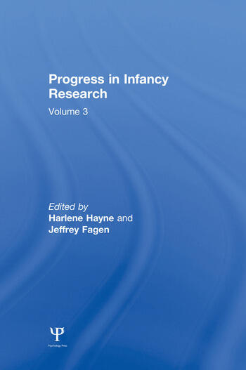 Progress in infancy Research Volume 3 book cover