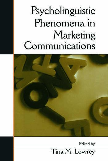 Psycholinguistic Phenomena in Marketing Communications book cover