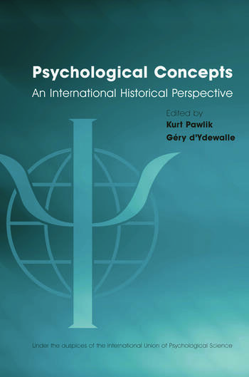 Psychological Concepts An International Historical Perspective book cover