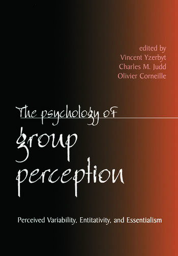 The Psychology of Group Perception book cover