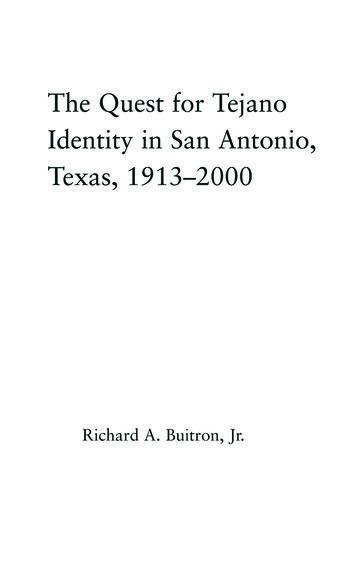 The Quest for Tejano Identity in San Antonio, Texas, 1913-2000 book cover
