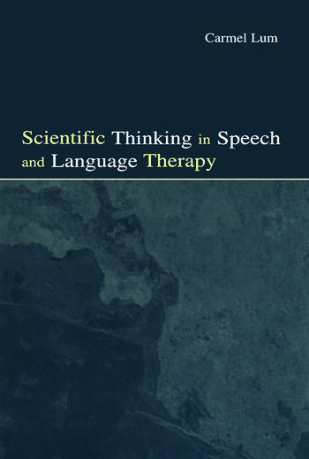 Scientific Thinking in Speech and Language Therapy book cover