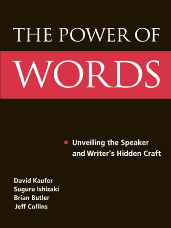The Power of Words Unveiling the Speaker and Writer's Hidden Craft book cover