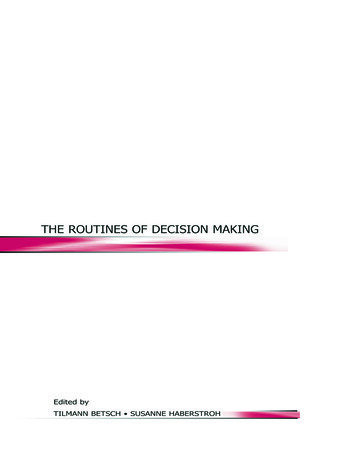 The Routines of Decision Making book cover