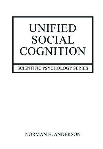 Unified Social Cognition book cover