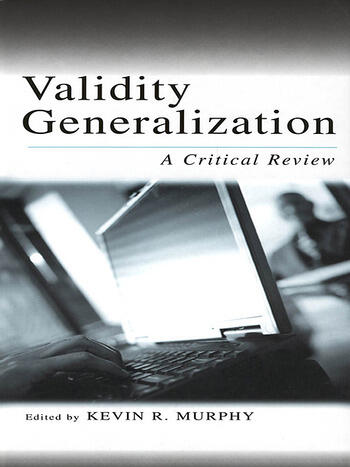 Validity Generalization A Critical Review book cover