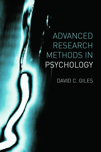 Advanced Research Methods in Psychology book cover