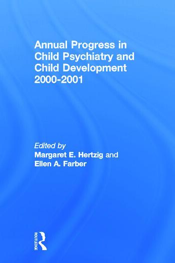 Annual Progress in Child Psychiatry and Child Development 2000-2001 book cover